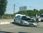 В столице Крыма сегодня случилось несколько ДТП с участием грузовиков и легковушек (фото)
