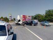 В столице Крыма вчера в двух ДТП с участием грузовых и легковых авто 4 человека получили травмы