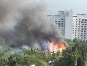 В Форосе вчера сгорел детский лагерь, обошлось без пострадавших