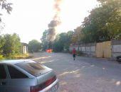 В столице Крыма сегодня сгорел легковой автомобиль (фото)