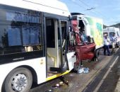 Вчера в ДТП грузовика и троллейбуса на Ялтинской трассе пострадали 9 человек, – МЧС Крыма