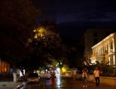 Ночная Феодосия, дождь и гроза (видео)