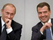 Работой Путина на посту президента довольны 83% россиян, Медведева - 48%