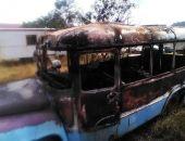 В Коктебеле сгорел автобус
