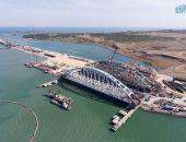 С понедельника Керченский пролив перекроют для судов из-за установок арок Крымского моста
