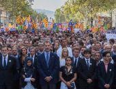 Испанский король вышел на демонстрацию в Барселоне
