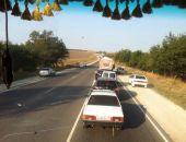 В Крыму на трассе Феодосия – Симферополь – многокилометровый затор из-за ДТП (фото)