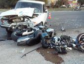 Сегодня вечером в Феодосии сбили мотоцикл
