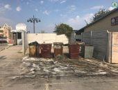 В Коктебеле очистили территорию мусорной площадки на ул.Приморская