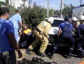 Вчера в Феодосии Москвич впечатал пешехода в ограждение