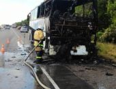 В Крыму столичные пожарные спасли от огня несколько десятков автобусов