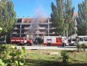 В Феодосии вчера горело здание на Федько, сгорел магазин на первом этаже