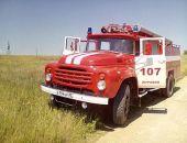 В окрестностях села Насыпное пожарные за два часа потушили степной пожар (фото)