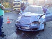 В Крыму на трассе Феодосия – Симферополь столкнулись три легковых автомобиля (фото)