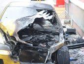 В Феодосии на Крымской ночью сгорел автомобиль