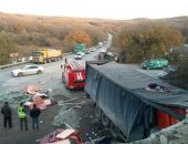 В Крыму на трассе Феодосия – Симферополь столкнулись три автомобиля (фото)