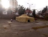 Сотрудники «Крым-Спас» установили в Алуште пункт обогрева