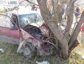 Вчера в Бахчисарайском районе автомобиль сбил мопед, после чего врезался в дерево