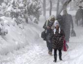 Завтра в Крыму синоптики прогнозируют сильный снегопад