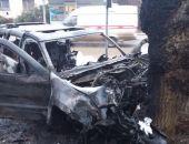В ночь на 6 января в Феодосии разбился и сгорел автомобиль (обновлено)