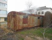 В Приморском на Набережной сгорел строительный вагончик (фото)