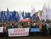 В столице Крыма митинговали в честь победы в Сталинградской битве и против санкций (фото)