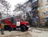 На пожаре в Евпатории спасена женщина