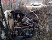 Под Феодосией вылетел с трассы и загорелся автомобиль, водитель погибла