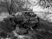 ДТП на трассе Феодосия – Керчь: феодосийка на Chevrolet Lanos съехала в кювет (фото)
