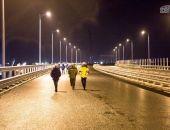 На Крымском мосту протестировали систему освещения автодороги (фото) (видео)