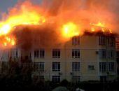В центре Сочи горит многоэтажный жилой дом