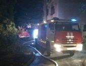 В Крыму на пожаре в пятиэтажке пострадал житель Белогорска