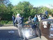 В Крыму на трассе Алушта – Симферополь лоб-в-лоб столкнулись два легковых авто (видео) (фото)