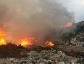 В столице Крыма сегодня рано утром загорелся полигон ТКО в Каменке:фоторепортаж