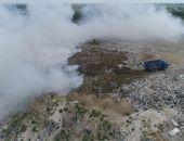 Полигон ТБО в пригороде столицы Крыма продолжает гореть