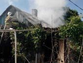 В посёлке Приморский случился пожар в частном домовладении (фото)