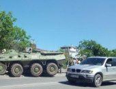Сегодня в столице Крыма произошло ДТП с участием двух БТР (фото)