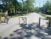 Возле военного санатория восстановили стоппер