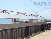 На пляже в Приморском возводят сомнительную конструкцию :фоторепортаж