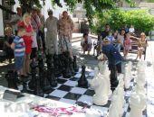 Феодосийские семьи сыграли в Большие шахматы