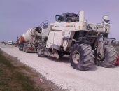 «Крымавтодор» восстановил покрытие дорог в объезд Феодосии по технологии холодного ресайклинга