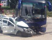 В Крыму в тройном ДТП с участием автобуса и двух «легковушек» погиб человек (фото):фоторепортаж