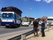 В Береговом рейсовый автобус Керчь-Симферополь попал в аварию, пострадавших нет