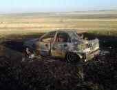 В пригороде столицы Крыма дотла сгорел легковой автомобиль (фото)