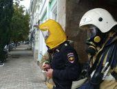 В Феодосии сотрудники МЧС ликвидировали условный пожар в отделе полиции (фото)