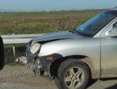 В районе Керченского шоссе на повороте на Владиславовку столкнулись два автомобиля