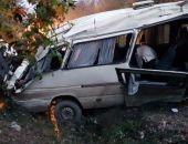 Сегодня утром на трассе Феодосия - Симферополь перевернулся микроавтобус