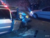 В столице Крыма легковой автомобиль разбился о столб (фото)
