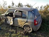 Вчера вечером на трассе Керчь - Феодосия автомобиль вылетел с дороги, пострадал водитель