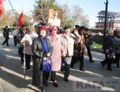 В Феодосии прошла демонстрация и митинг, посвященные 101-й годовщине Октябрьской революции (видео)
